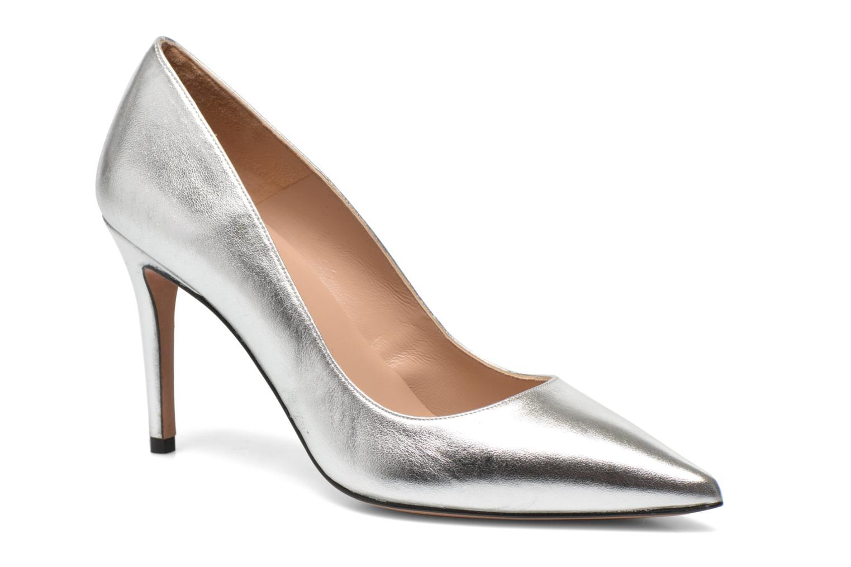 High heels Pura Lopez Astoria Silver detailed view/ Pair view