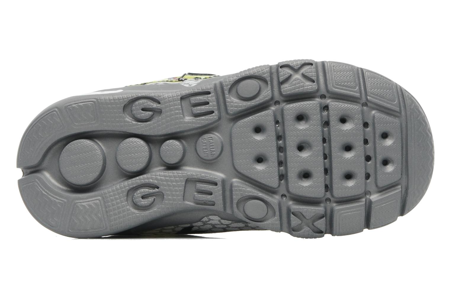 Baskets Geox B RUNNER BOY Gris vue haut