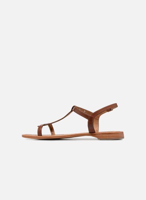 Sandales et nu-pieds Les Tropéziennes par M Belarbi Hamess Marron vue face
