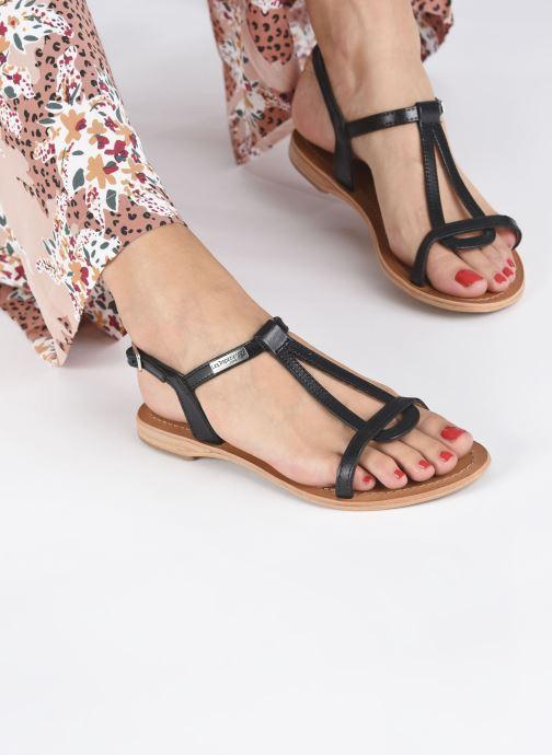 Sandales et nu-pieds Les Tropéziennes par M Belarbi Hamess Noir vue bas / vue portée sac