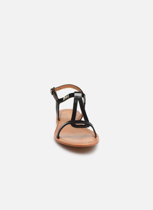Sandales et nu-pieds Les Tropéziennes par M Belarbi Hamess Noir vue portées chaussures