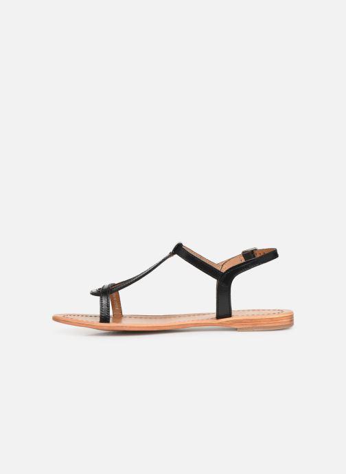 Sandales et nu-pieds Les Tropéziennes par M Belarbi Hamess Noir vue face