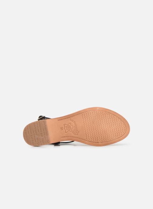 Sandales et nu-pieds Les Tropéziennes par M Belarbi Hamess Noir vue haut