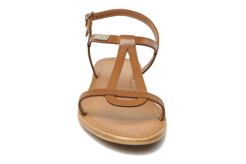 Sandales et nu-pieds Les Tropéziennes par M Belarbi Hamess Marron vue portées chaussures