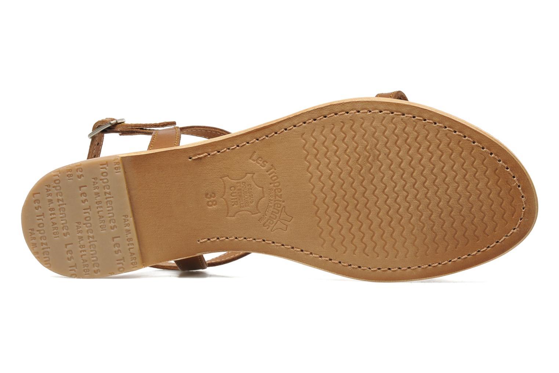 Sandales et nu-pieds Les Tropéziennes par M Belarbi Hamess Marron vue haut
