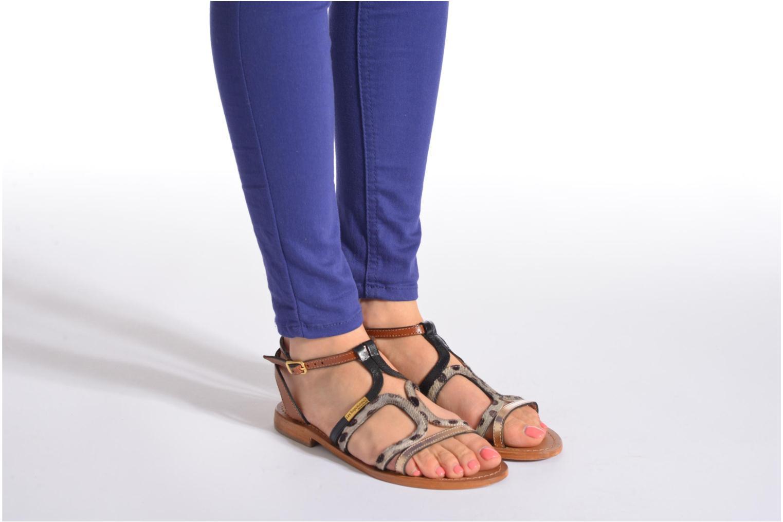 Sandals Les Tropéziennes par M Belarbi Hayate Bronze and Gold view from underneath / model view