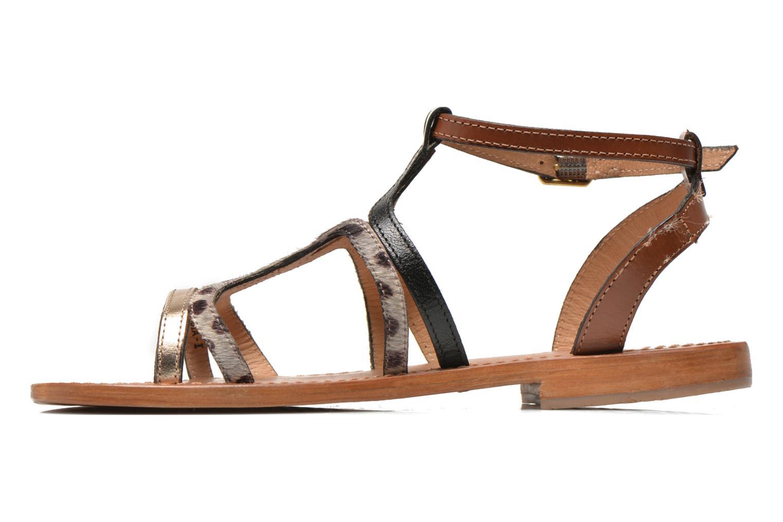 Sandals Les Tropéziennes par M Belarbi Hayate Bronze and Gold front view
