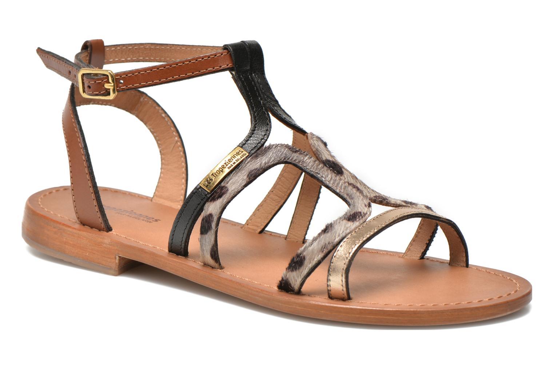 Sandals Les Tropéziennes par M Belarbi Hayate Bronze and Gold detailed view/ Pair view
