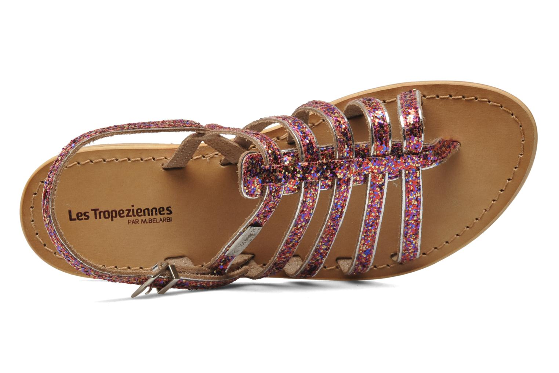 Sandales et nu-pieds Les Tropéziennes par M Belarbi Happy Rose vue gauche