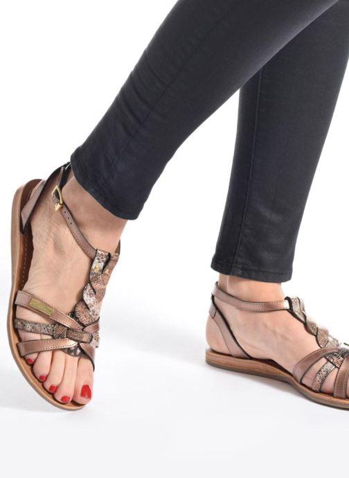Sandales et nu-pieds Les Tropéziennes par M Belarbi Hams Noir vue bas / vue portée sac