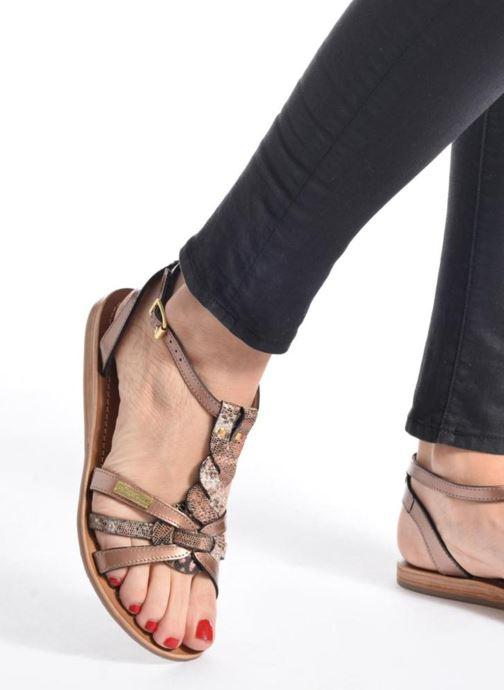 Sandales et nu-pieds Les Tropéziennes par M Belarbi Hams Marron vue bas / vue portée sac