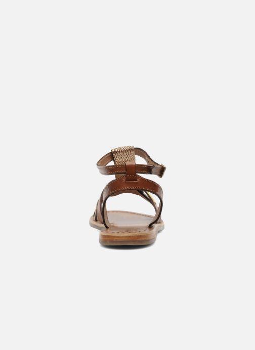 Sandales et nu-pieds Les Tropéziennes par M Belarbi Hams Marron vue droite