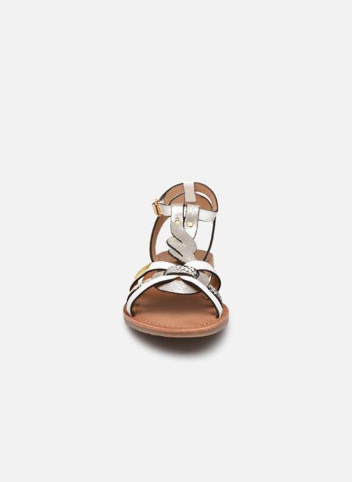 Sandales et nu-pieds Les Tropéziennes par M Belarbi Hams Blanc vue portées chaussures