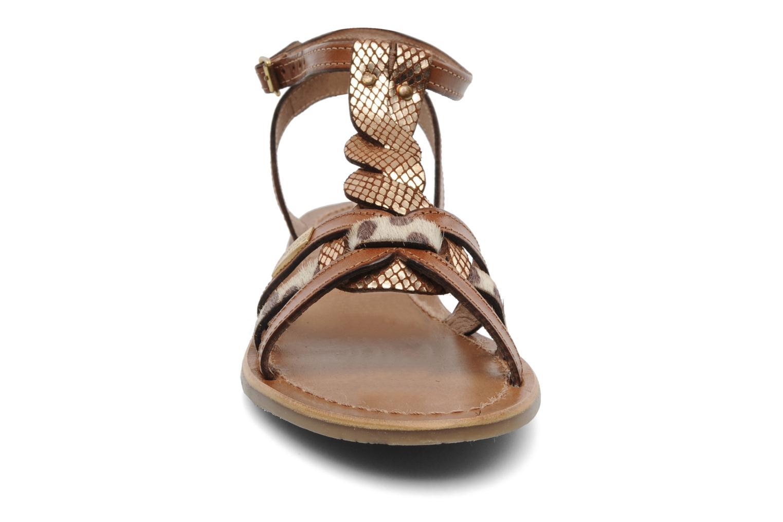 Sandales et nu-pieds Les Tropéziennes par M Belarbi Hams Marron vue portées chaussures