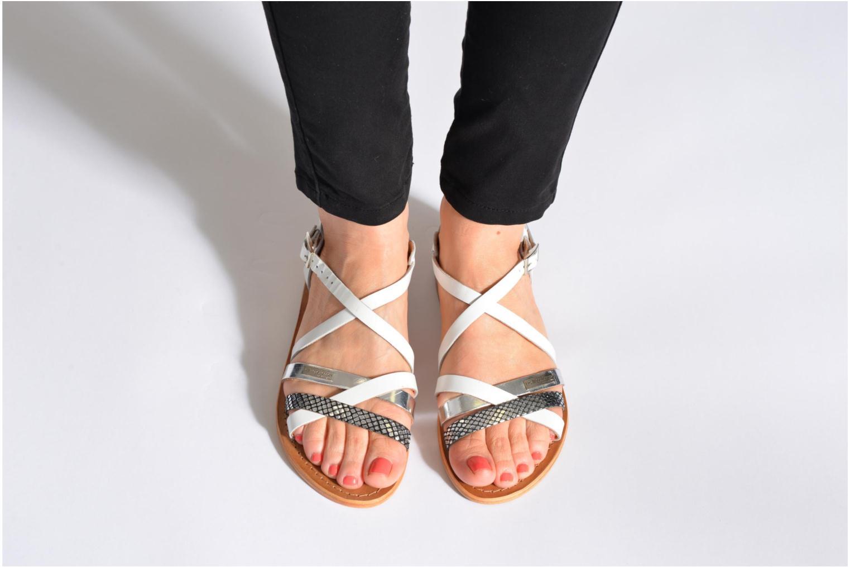 Sandals Les Tropéziennes par M Belarbi Hapax Black view from underneath / model view