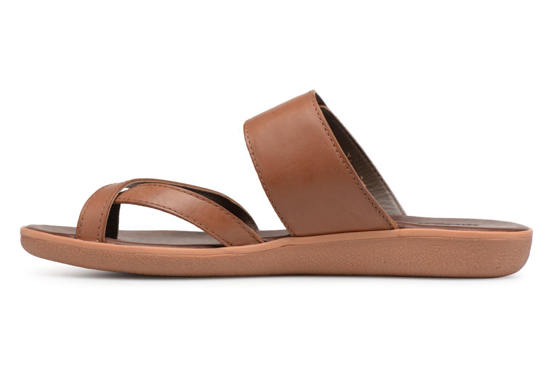 Sandales et nu-pieds Kickers Hypy Marron vue face