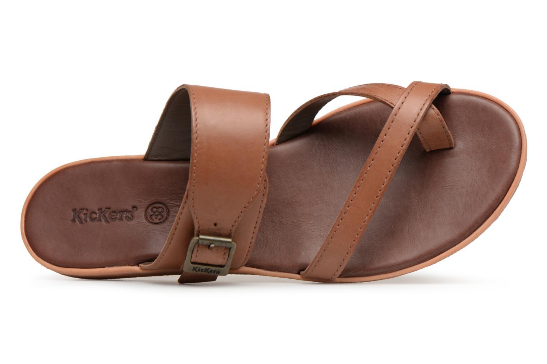 Sandales et nu-pieds Kickers Hypy Marron vue gauche