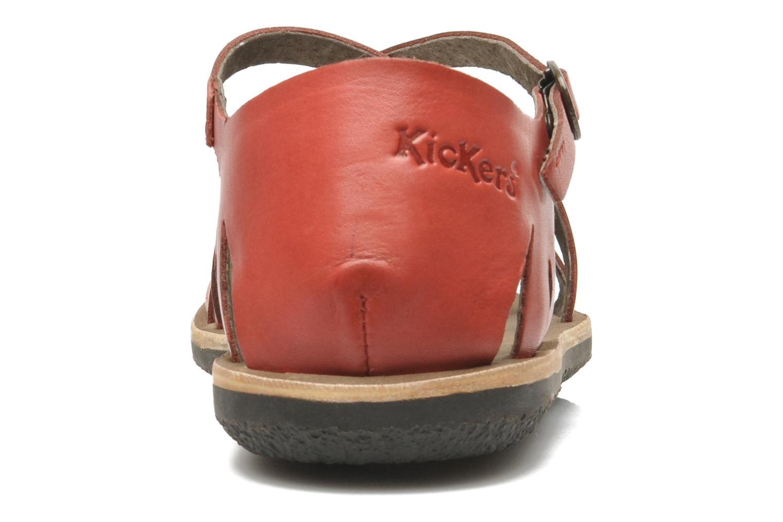 Sandales et nu-pieds Kickers Spartame Rouge vue droite