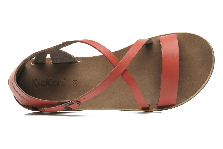 Sandales et nu-pieds Kickers Spartame Rouge vue gauche