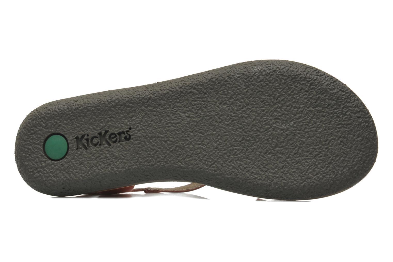 Sandales et nu-pieds Kickers Spartame Rouge vue haut