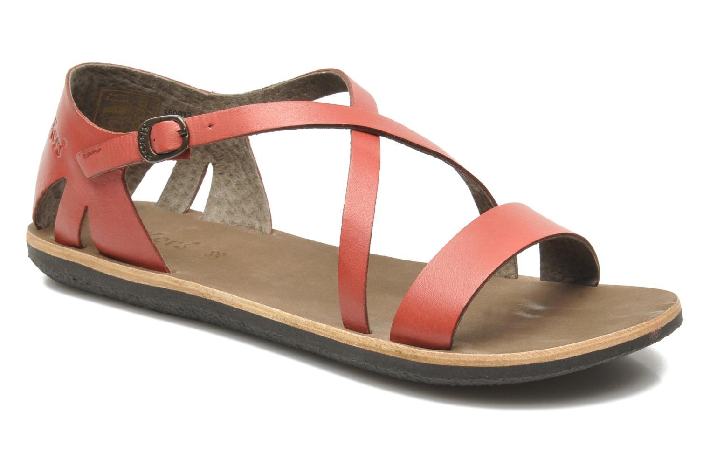 Sandales et nu-pieds Kickers Spartame Rouge vue détail/paire