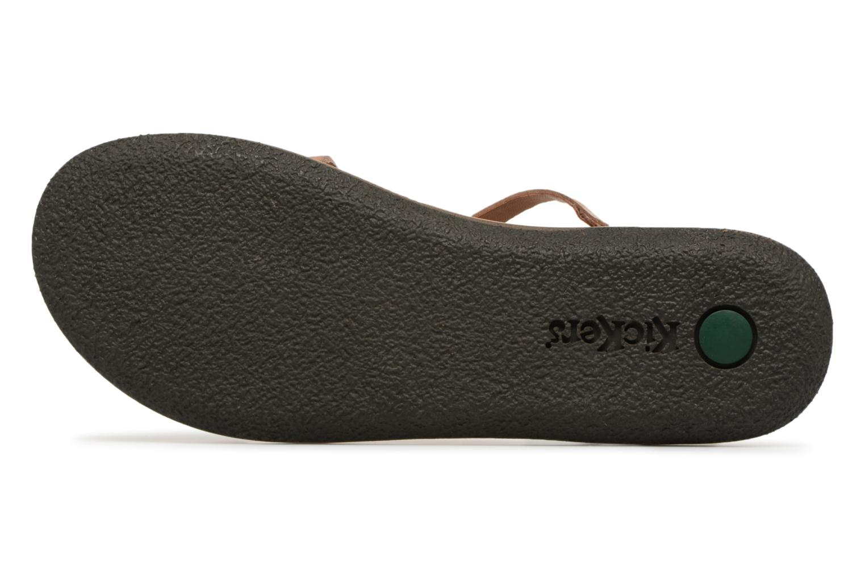 Sandales et nu-pieds Kickers Spartame Marron vue haut