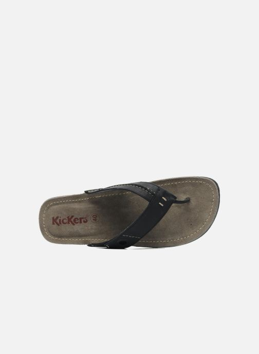 Chanclas Kickers Spacy Negro vista lateral izquierda