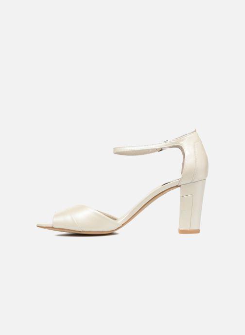 Sandales et nu-pieds Perlato Pone Blanc vue face