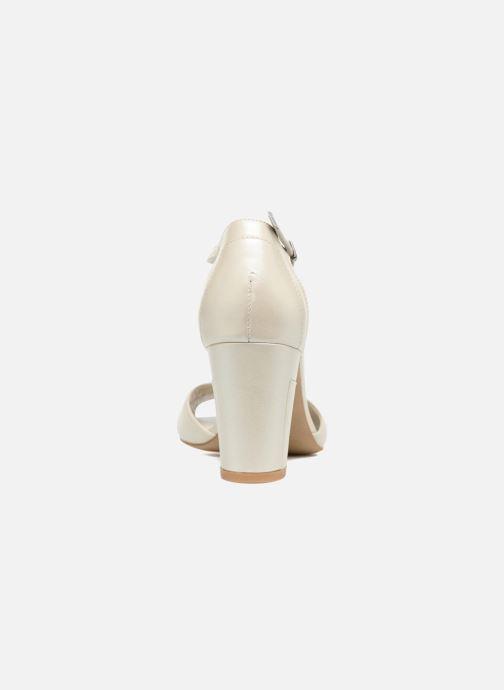 Sandales et nu-pieds Perlato Pone Blanc vue droite