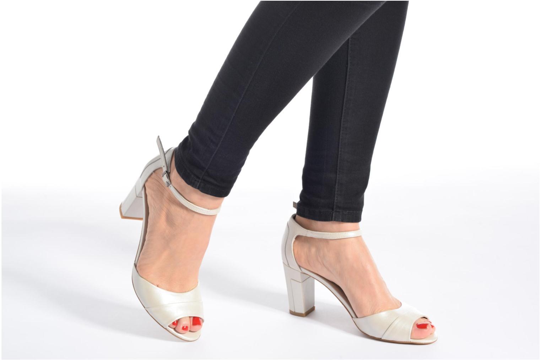 Sandales et nu-pieds Perlato Pone Blanc vue bas / vue portée sac