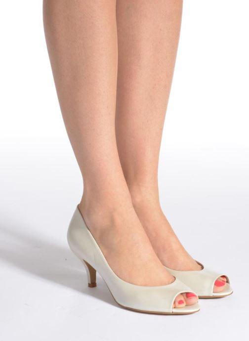 Zapatos de tacón Perlato Poshy Blanco vista de abajo