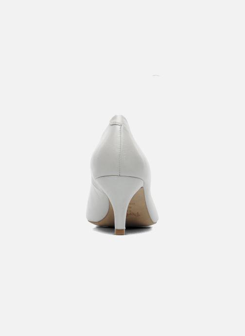 Zapatos de tacón Perlato Poshy Blanco vista lateral derecha