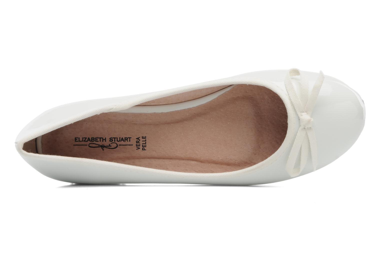 Ballerines Elizabeth Stuart Castel 813 Blanc vue gauche