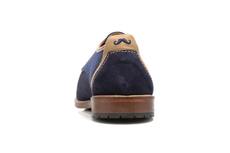 Chaussures à lacets M. Moustache Léon Suede Bleu vue droite