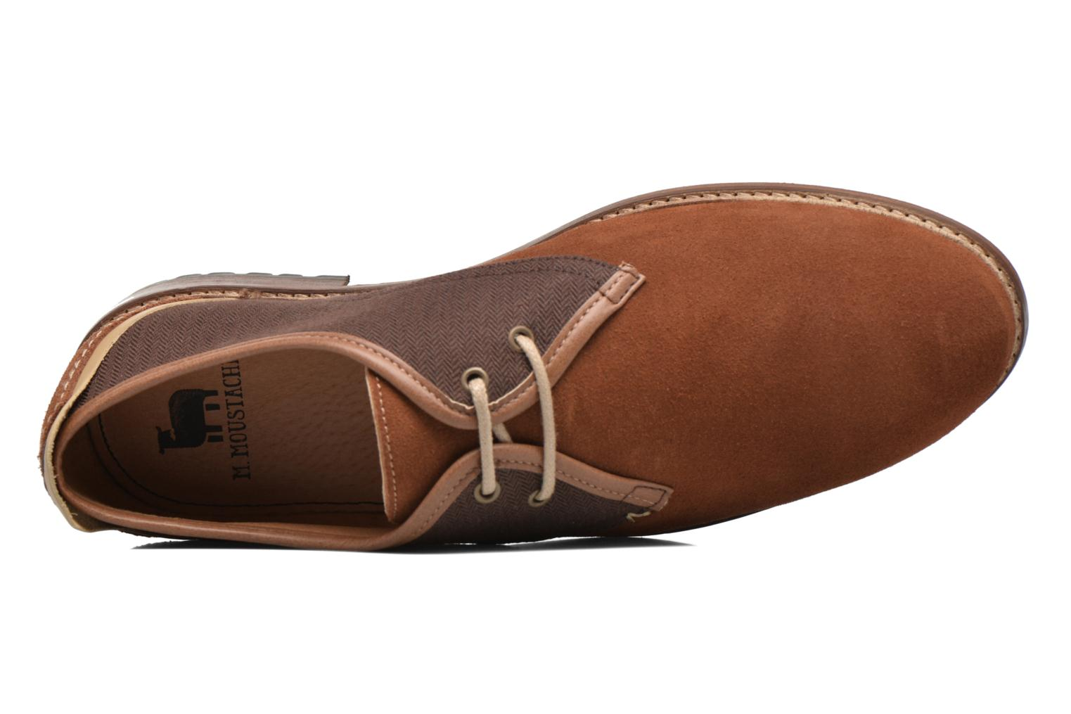 Lace-up shoes M. Moustache Léon Suede Brown view from the left