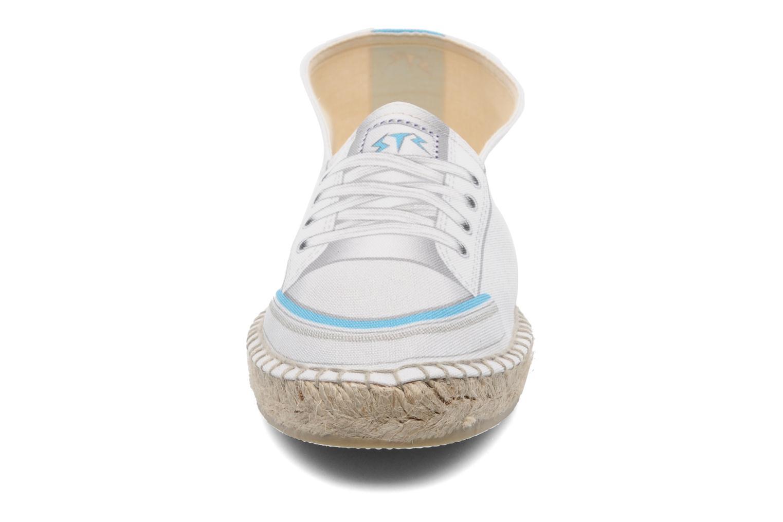 Espadrilles String Republic Paris W Blanc vue portées chaussures