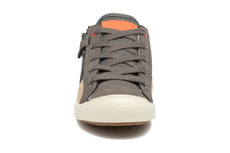 Baskets Kickers Zigzaguer Gris vue portées chaussures