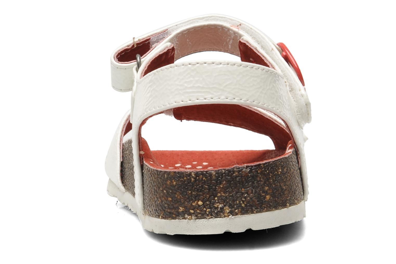 Sandales et nu-pieds Kickers Magiflower Blanc vue droite