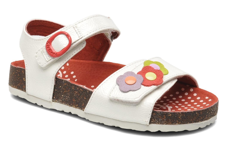 Sandales et nu-pieds Kickers Magiflower Blanc vue détail/paire