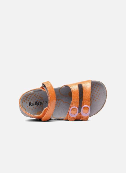 Sandalen Kickers Magipop Oranje links