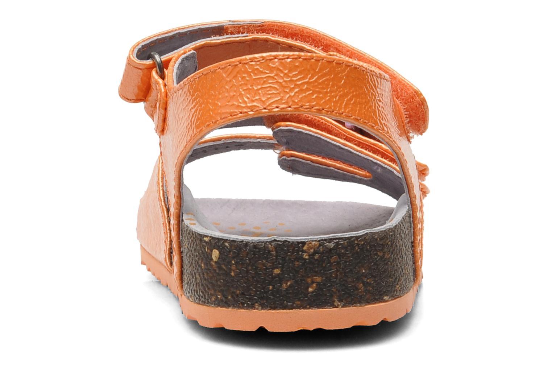 Sandales et nu-pieds Kickers Magipop Orange vue droite