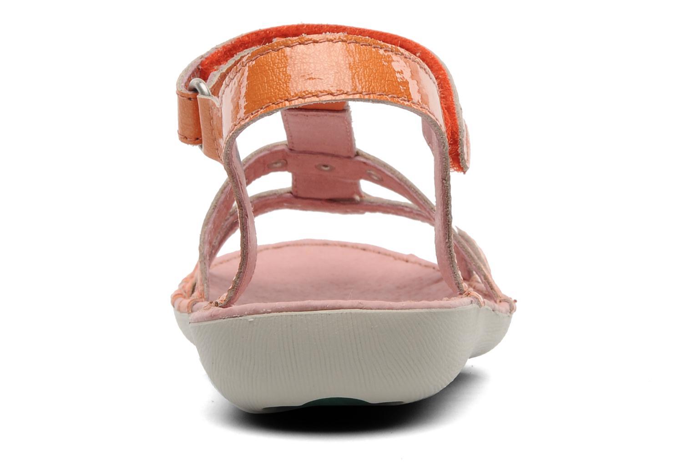 Sandales et nu-pieds Kickers Esmeralda Orange vue droite
