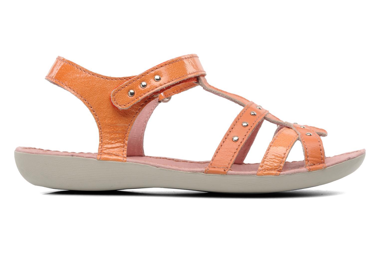 Sandales et nu-pieds Kickers Esmeralda Orange vue derrière