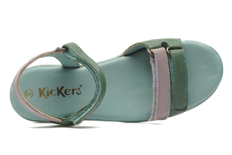 Sandali e scarpe aperte Kickers Arcenciel Verde immagine sinistra