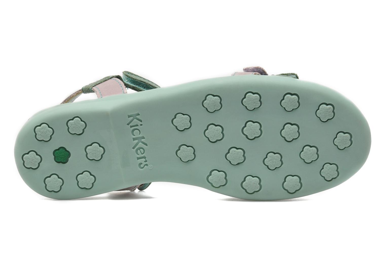 Sandali e scarpe aperte Kickers Arcenciel Verde immagine dall'alto
