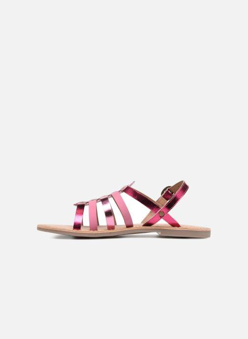Sandalen Kickers Dixmillion silber ansicht von vorne
