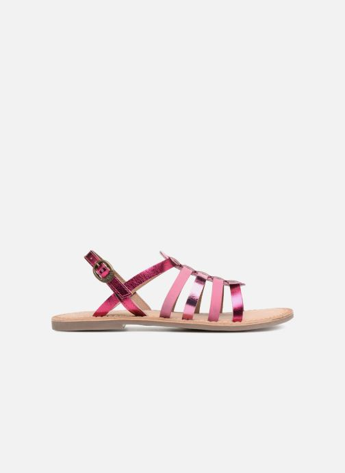 Sandalen Kickers Dixmillion silber ansicht von hinten