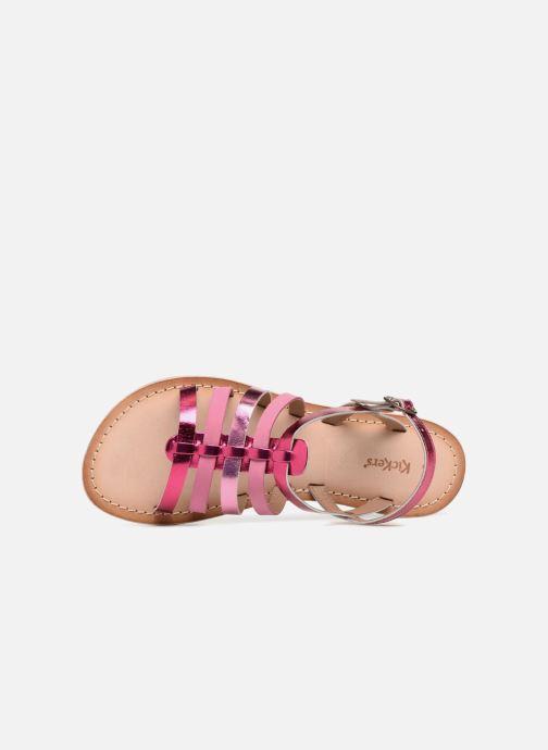 Sandalen Kickers Dixmillion silber ansicht von links