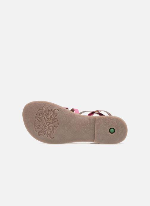 Sandalen Kickers Dixmillion silber ansicht von oben
