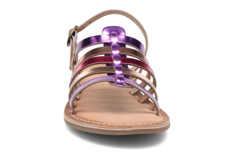 Sandales et nu-pieds Kickers Dixmillion Violet vue portées chaussures